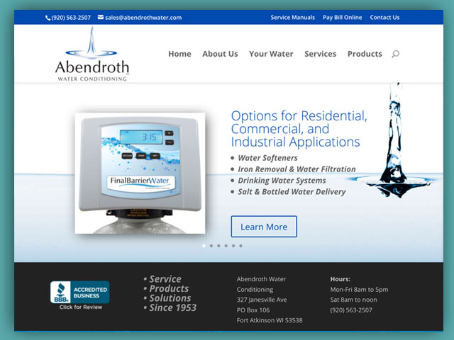 Website: Abendroth Water Conditioning
