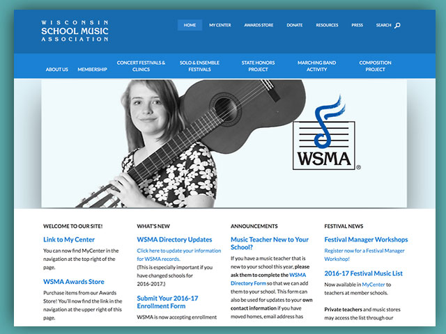 Website: Wisconsin School Music Association