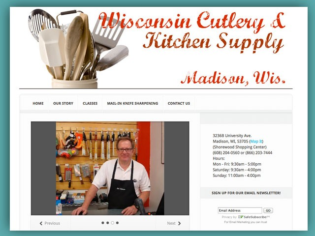 Website: Wisconsin Cutlery and Kitchen Supply