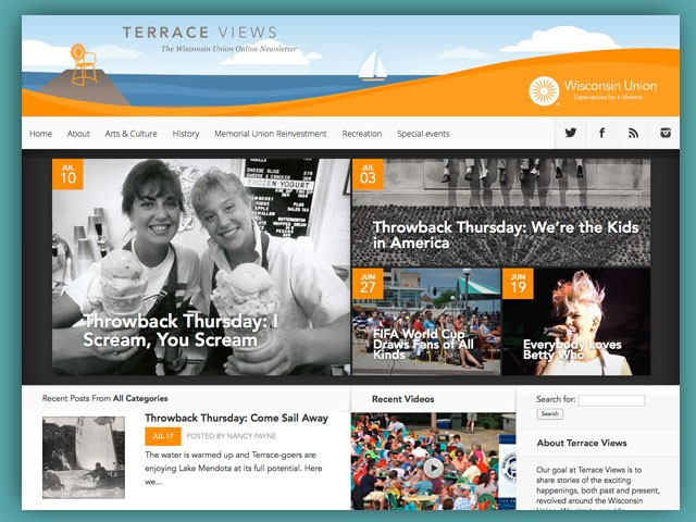 Terrace Views: The Wisconsin Union Online Newsletter